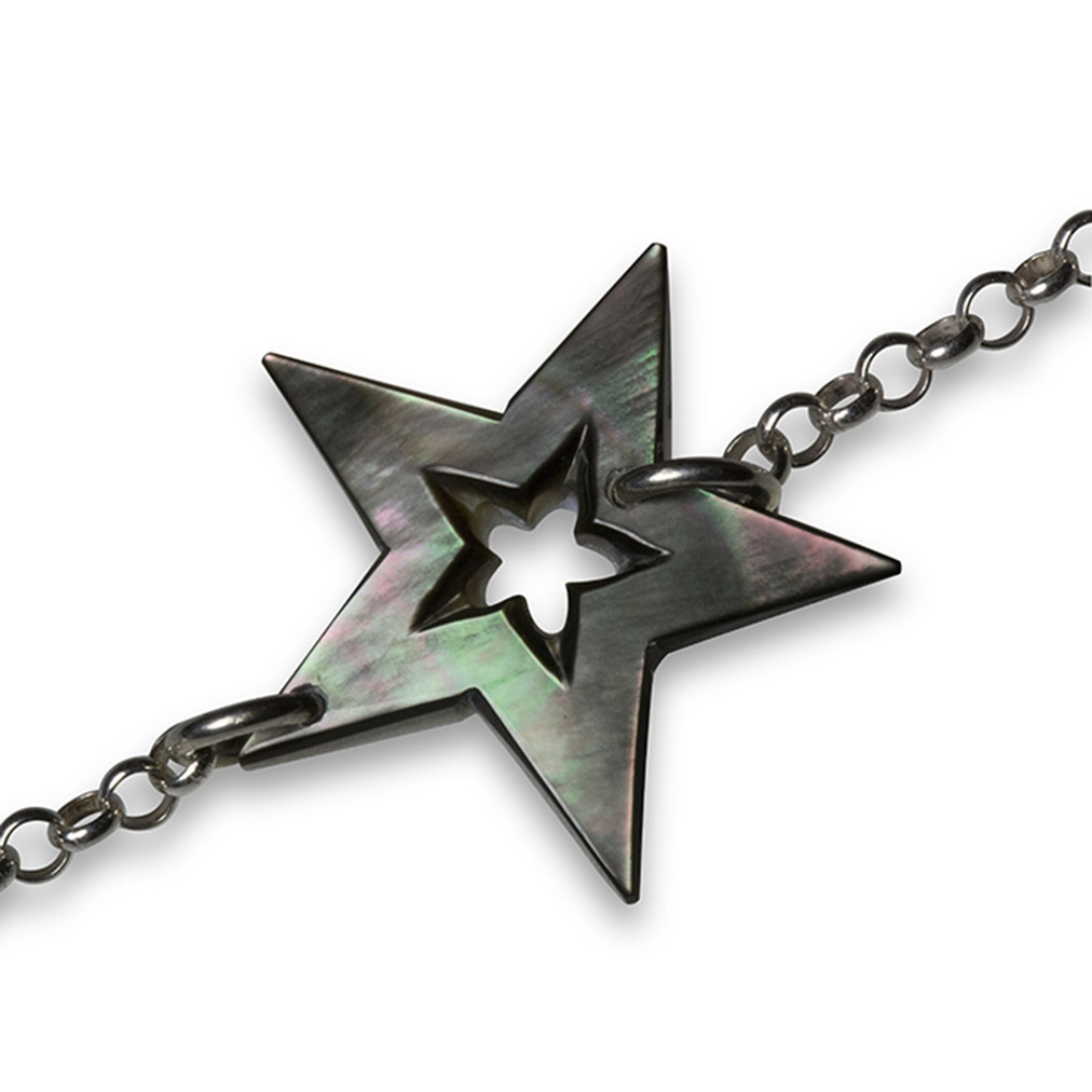 Mother of Pearl and silver Star bracelet
